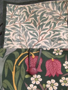 William Morris 'Willowbough' fabric in flap